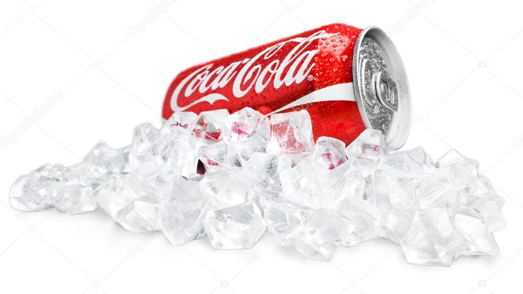 Coca Cola can isolated