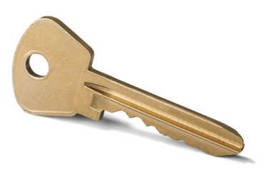 key on white background