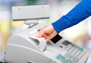 Cash register with LCD display