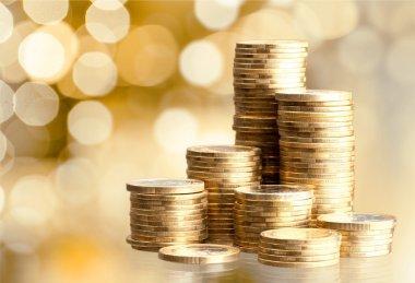 Golden  coin stacks