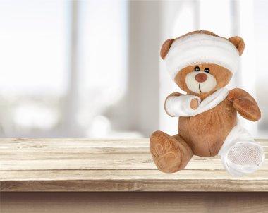 Physical Injured Teddy Bear