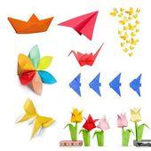 Origami papír hračky kolekce