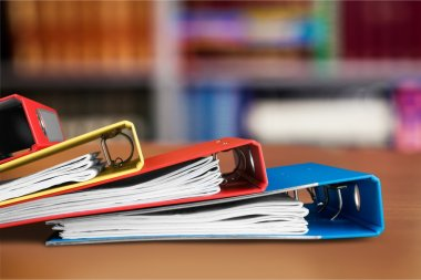 stack of documents on  background