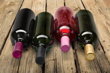 Wine bottlesWine bottles isolated