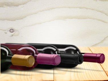 Wine bottles isolated