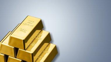 Gold bars  close up