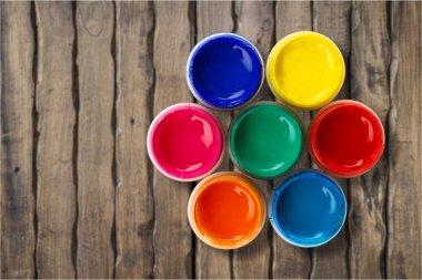 Paint brush with paints