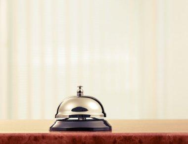 hotel reception service desk bell