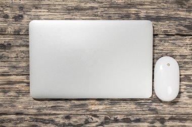 Laptop, top, white.