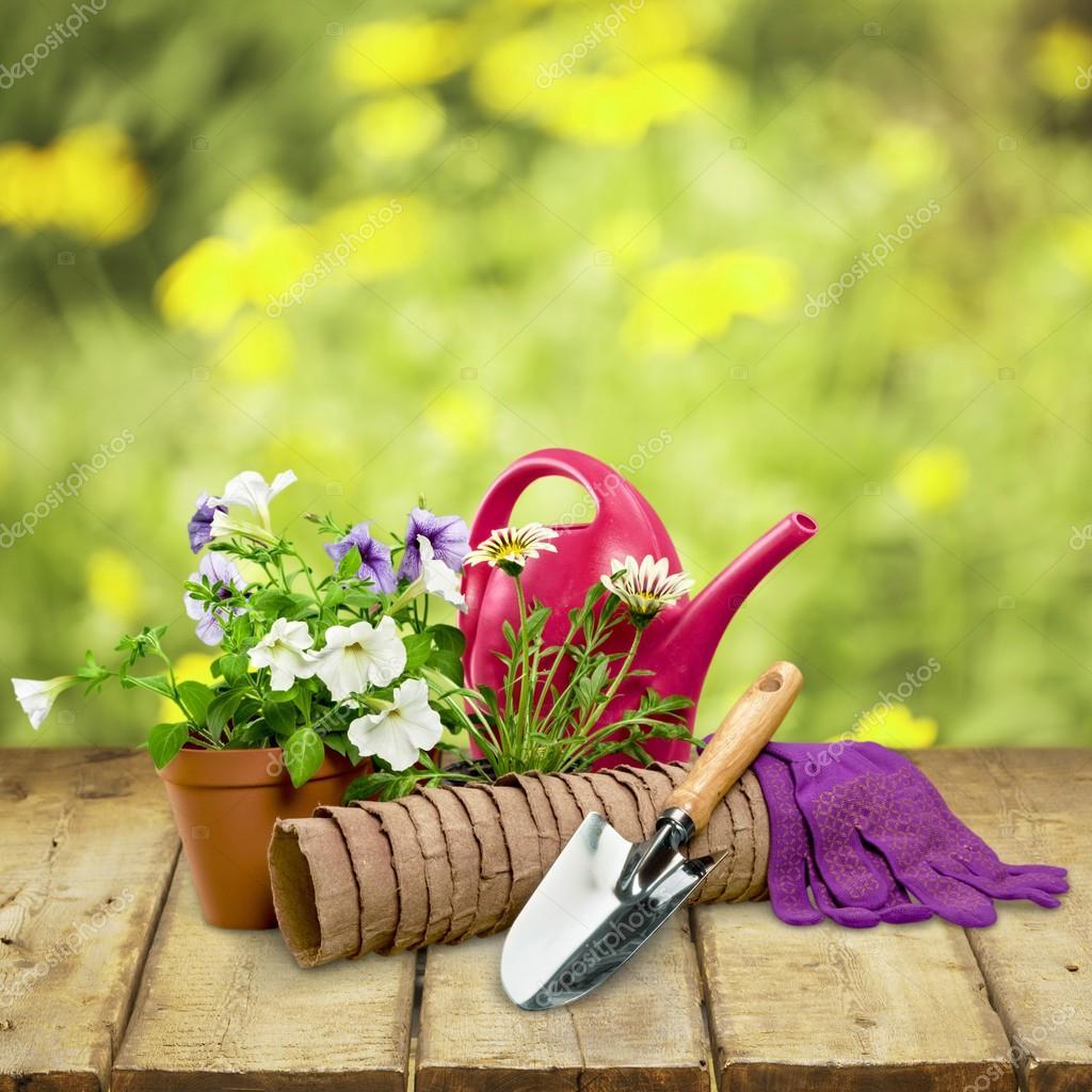 Gardening Equipment, Flower Pot, Work Tool.