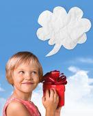 Fotografie Weihnachten, Kind, Geschenk