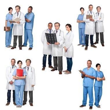 Doctor, Healthcare And Medicine, Computer. stock vector