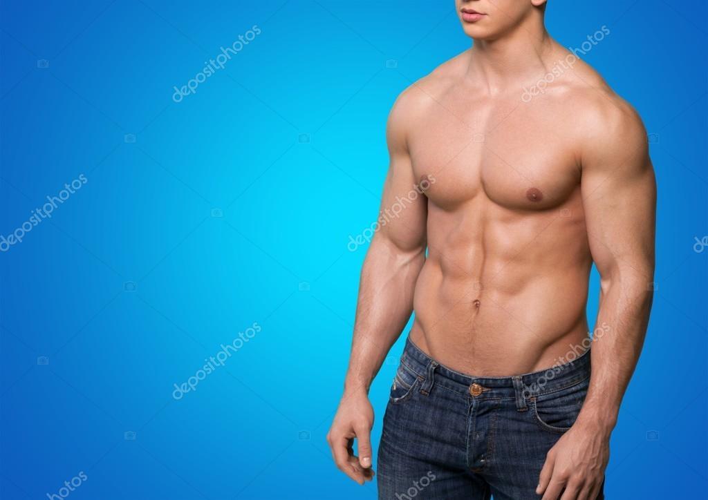 Hombre de los hombres, músculos abdominales, — Fotos de Stock ...