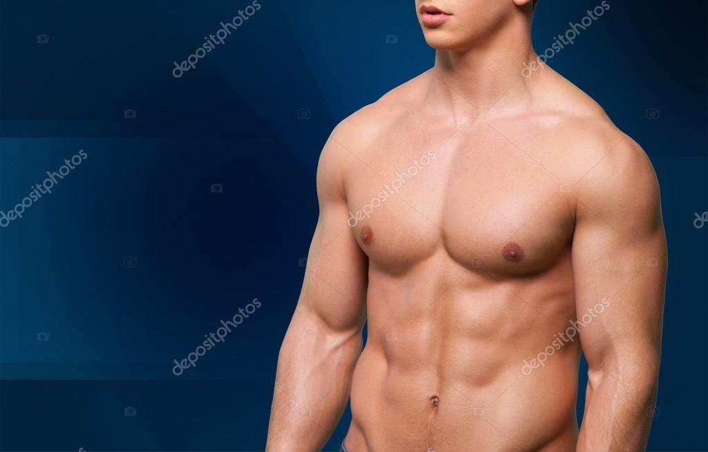 Männer, Bauchmuskeln, Männchen — Stockfoto © billiondigital #75028023