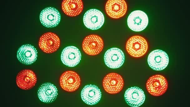 Bright Flood Lights Flashing