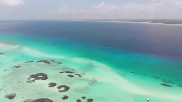 Paradise Private Island of Mnemba in Turquoise Ocean, Zanzibar, Aerial View
