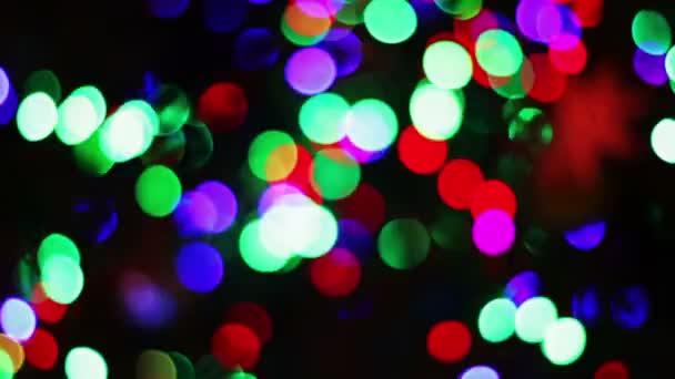 die Lichter des Weihnachtsbaums