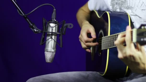 Recording Acoustic Guitar in the Studio.