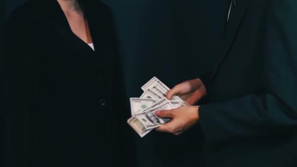 Businessman Gives the Bribe Money, Corruption