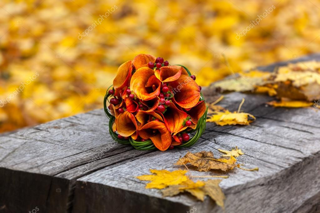 autumn, bridal bouquet, autumn bouquet, wedding, wedding in the
