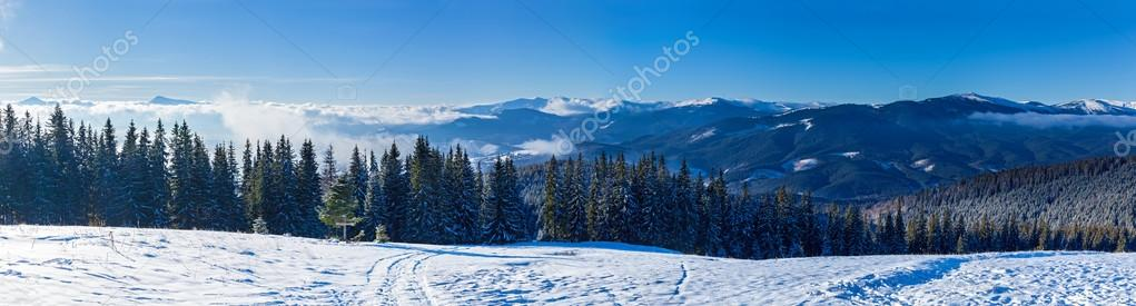 mountain landscapes and panoramas of snow-capped mountain peaks