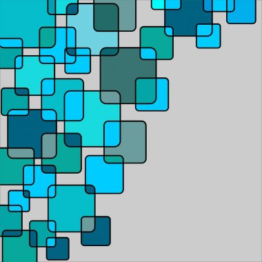 Graphic background in turquoise tones