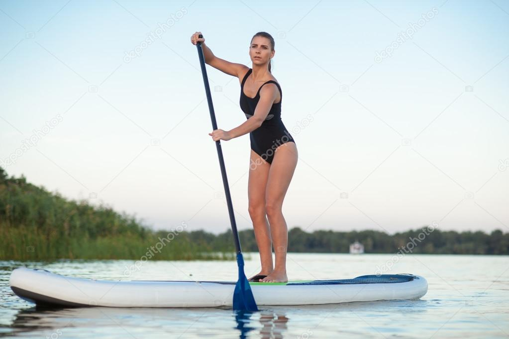 Board Up Stand Sup Embarquement16 Photographie Femme Paddle — f76Yybgv