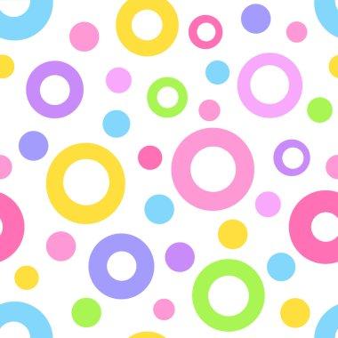 Seamless geometric circle pattern