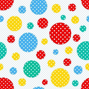 Seamless geometric polka dot pattern