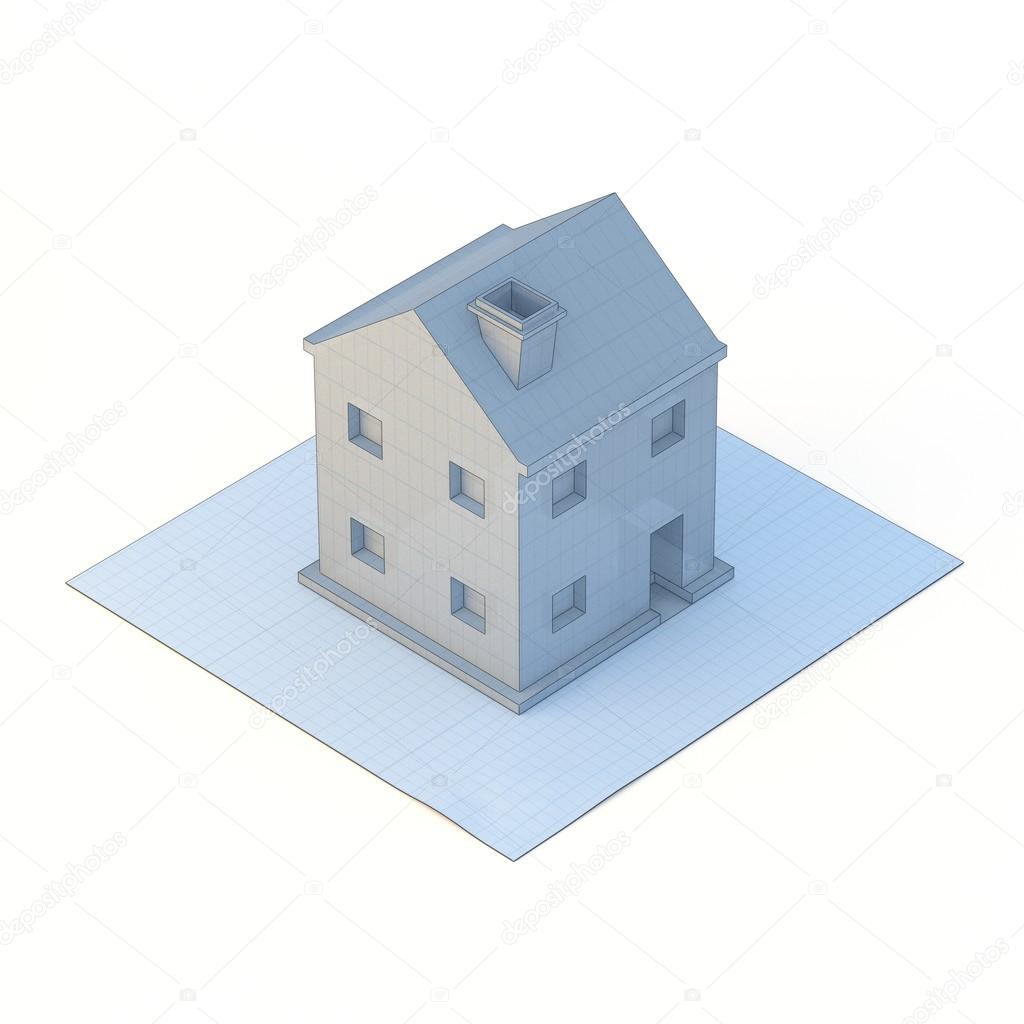 3d blueprint render sketch house project illustration stock photo 3d blueprint house project illustration photo by magicdogphoto malvernweather Images
