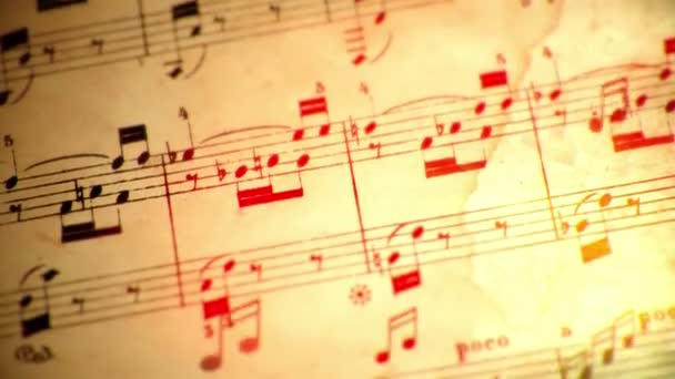Music notes flowing loop