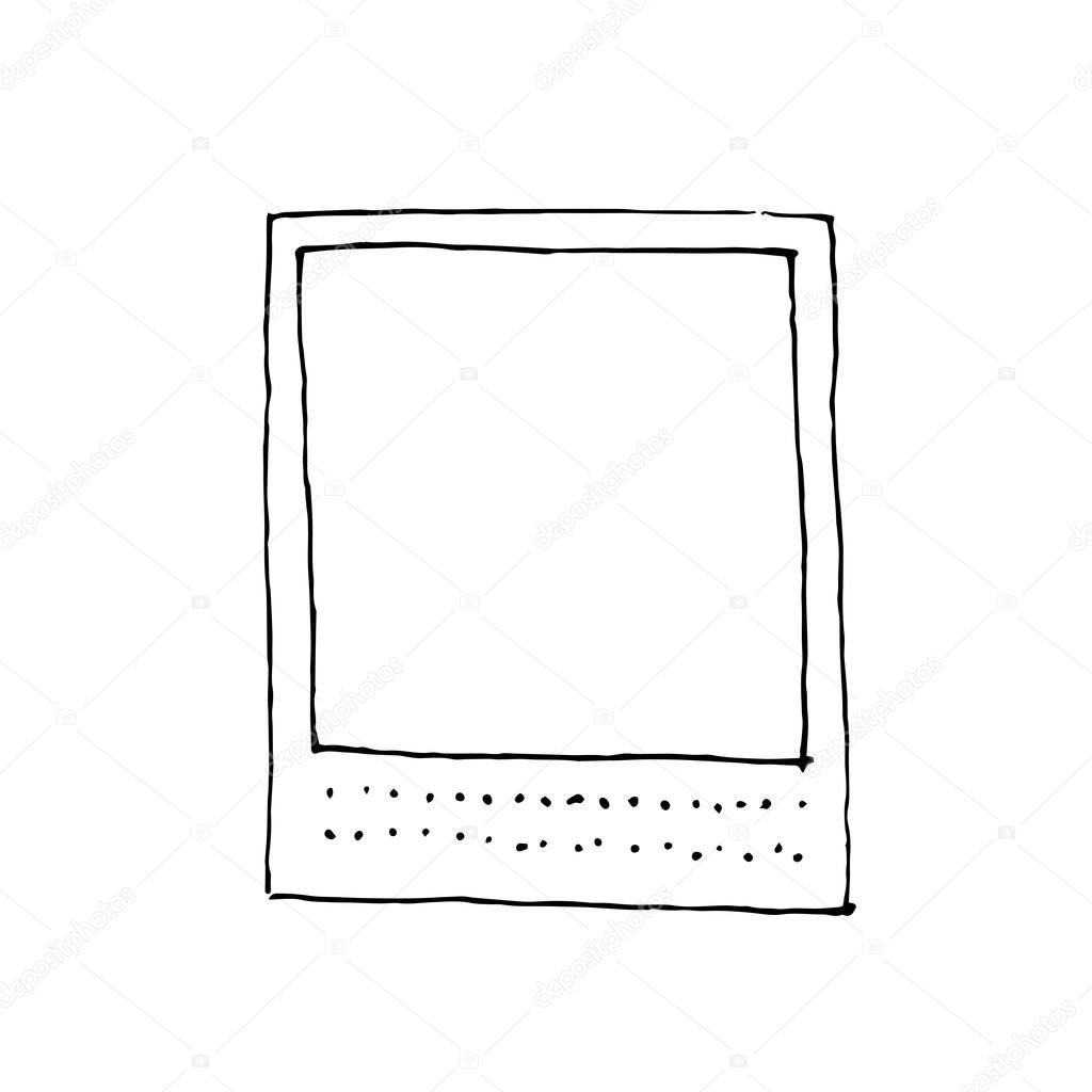 Vintage Foto-Zeichnungsrahmen — Stockvektor © MagicDogPhoto #87416646