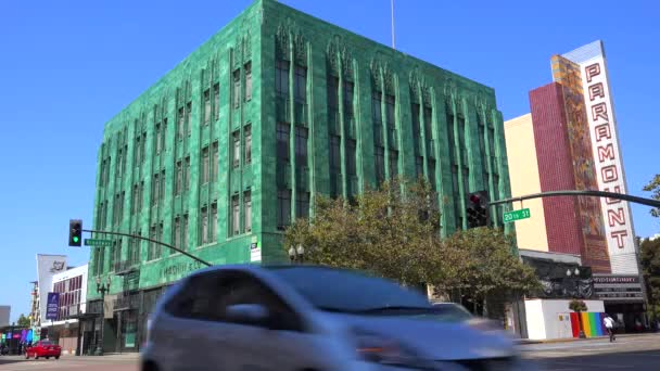 Vista Do Centro Da Cidade De Oakland, Califórnia U2014 Vídeo ...