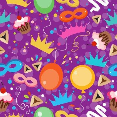 Jewish holiday Purim pattern