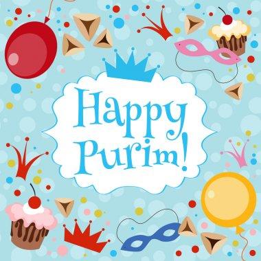 Jewish Purim card