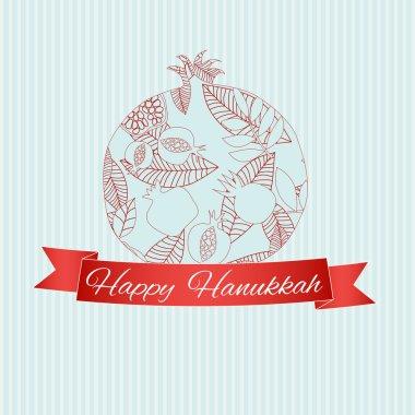 Decorative pomegranate card