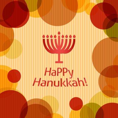 Card with text happy hanukkah