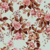 Vintage pattern with eustoma flowers