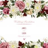 Akvarell üdvözlés kártya-val Rózsa