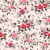 Fotografie Red and pink roses pattern
