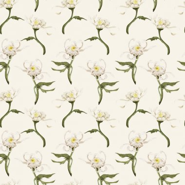 floral pattern with chrysanthemum