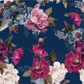 Fotografie Floral pattern with peony