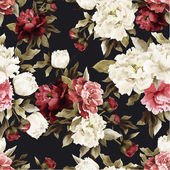 Photo Floral pattern with peony