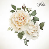 Fotografia Bouquet of roses, watercolor, can be used as greeting card, invi