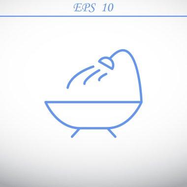 Simple bathroom web icon