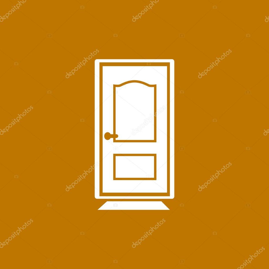 Geschlossene Tür Web-Symbol — Stockvektor © LovArt #105545884