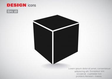 Simple cube web icon
