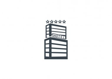 hotel simple web icon