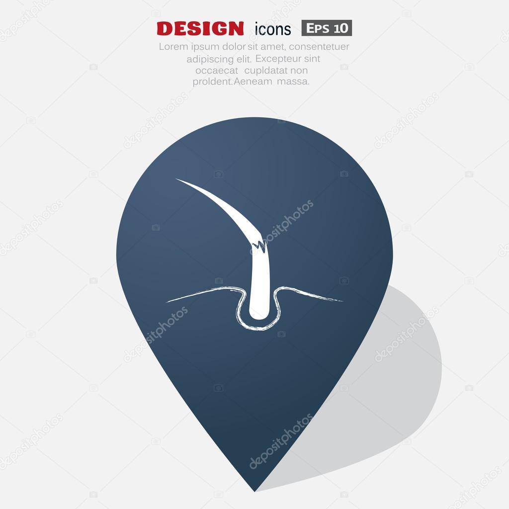 Damaged hair web icon — Stock Vector © LovArt #109396780