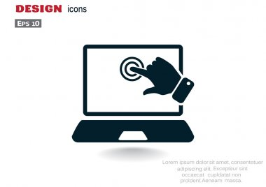 Touch screen on laptop web icon